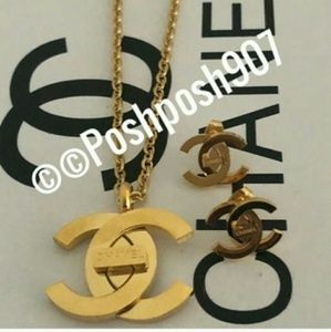 Chanel two piece Luxury Jewelry Set